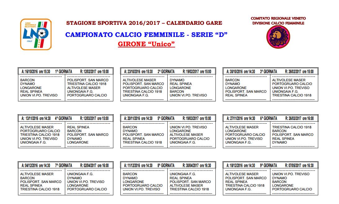 Triestina Calcio Calendario.Triestina Squadra Femminile Ecco Il Calendario Completo