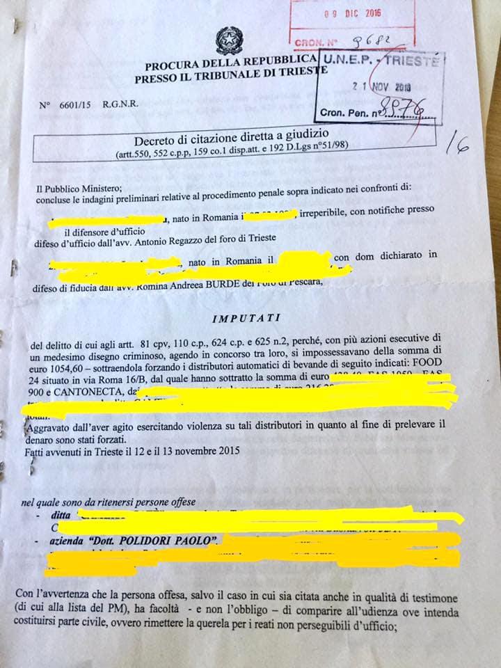 furto ditta polidori processo-2