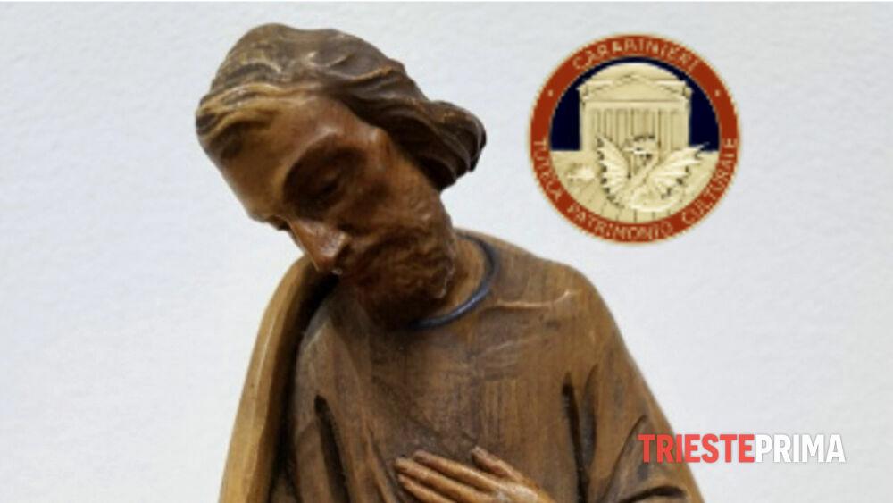 Statua rubata a Bolzano ritrovata a Muggia 40 anni dopo: era in vendita online