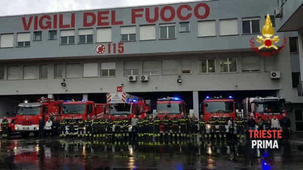 Esplosione a Quargnento: i Vigili del fuoco di Trieste commemorano i colleghi