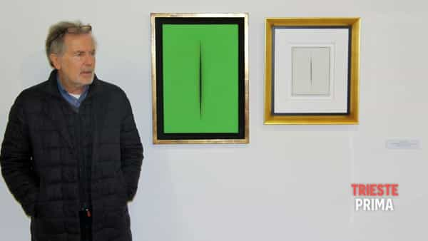 Visita alla mostra di Fontana con il curatore Giovanni Granzotto