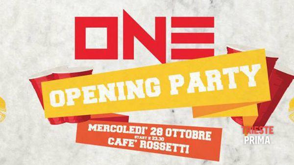 """One"", mercoledì 28 ottobre al via le serate universitarie al Caffè Rossetti"