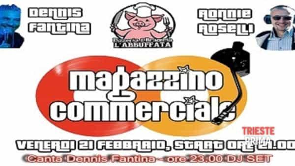 Dennis Fantina con i Magazzino commerciale, il concerto di Carnevale all'Abbuffata
