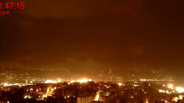 Fulmini e saette su Trieste nel VIDEO di Meteo Servola