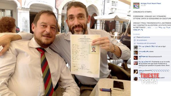 Pordenone Questura Concede Carta Di Soggiorno A Straniero Sposato Con Un Italiano All Estero