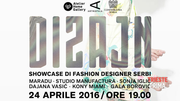 """Atelier Home Gallery, il 24 aprile """"Dizajn"""" showcase di fashion designer serbi"""
