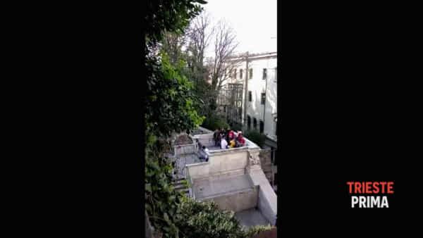 """""""Situazione insostenibile da troppo tempo"""", scala dei Giganti in un video di qualche mese fa"""