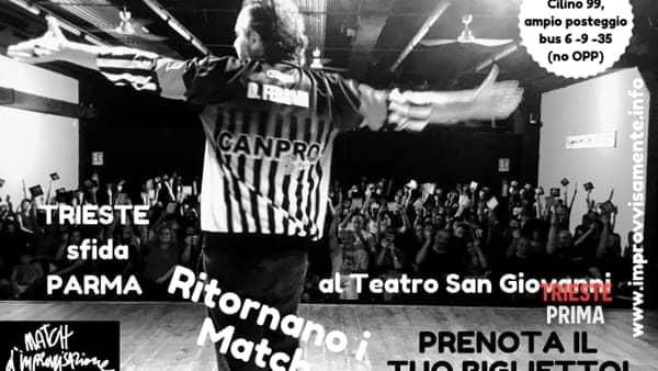 Match d'improvvisazione teatrale: Trieste sfida Parma