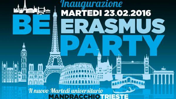 "Mandracchio, martedì universitario: dal 23 febbraio ripartono le serate ""Be Erasmus Party"""