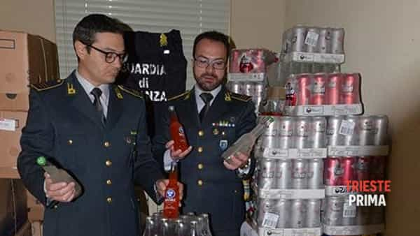 Fernetti: sequestrati dalla Guardia di Finanza 500 litri tra birra e cocktail alcolici