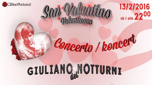 Casinò Portorose, amore e musica: a San Valentino concerto di Giuliano dei Notturni