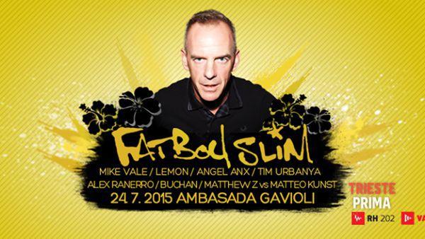 Ambasada Gavioli, estate di grande musica: venerdì 24 luglio sbarca in Slovenia FatBoy Slim