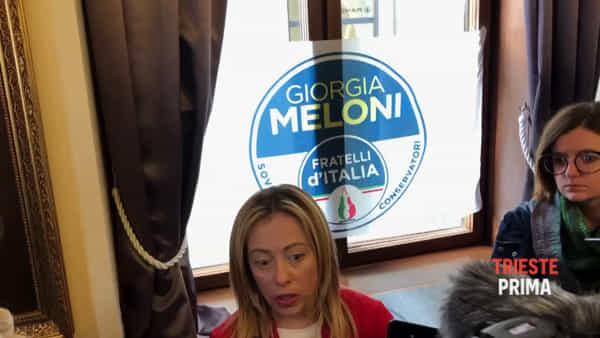 Giorgia Meloni a Trieste (VIDEO INTERVISTA)