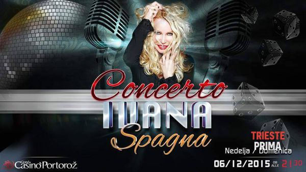 Ivana Spagna, domenica 6 dicembre concerto al Casinò di Portorose