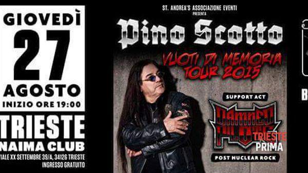 Pino Scotto, giovedì 27 agosto concerto-evento al Naima Club