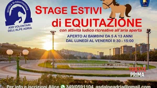 Equitazione per bambini all'ippodromo, dal 15 giugno al via lo stage