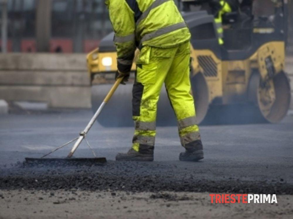 Da lunedì al via i lavori di asfaltatura a Opicina