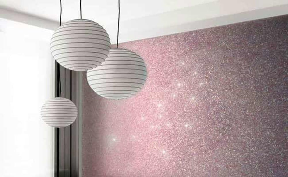 Vernici Brillanti Per Interni.Come Rinnovare Casa Con La Pittura Glitterata Per Pareti