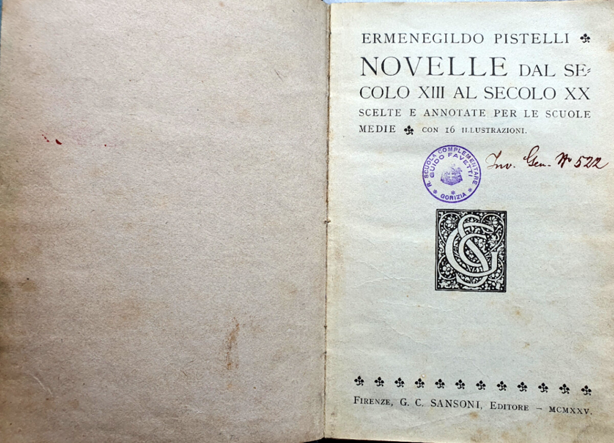 Libro rubato quasi un secolo fa restituito a una scuola di Gorizia: era in vendita online